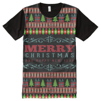 大きいクリスマス オールオーバープリントT シャツ