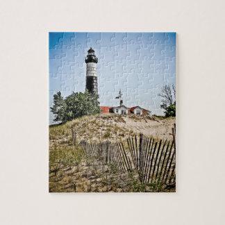 大きいクロテンポイント灯台 ジグソーパズル