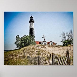 大きいクロテンポイント灯台 ポスター