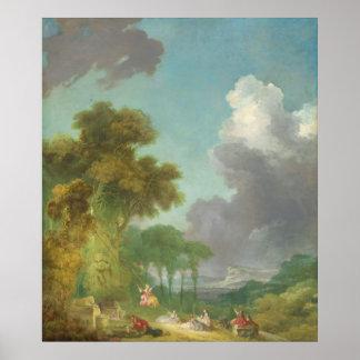 大きいジーンHonore Fragonard著振動 ポスター