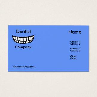 大きいスマイルの歯科医の名刺 名刺