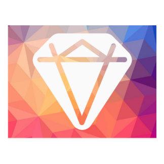 大きいダイヤモンドの絵画図表 ポストカード
