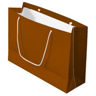 大きいチョコレート色のギフトバッグ-光沢のある ラージペーパーバッグ
