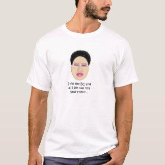 大きいチョップのTシャツ、バニラ Tシャツ