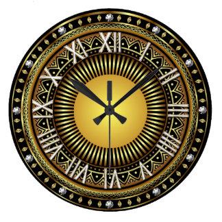 大きいデザイナーダイヤモンドのローマ2の最も最高のな眺め ラージ壁時計
