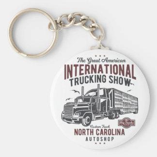 大きいトラックトラック運送ショーのノースカロライナの自動店 キーホルダー