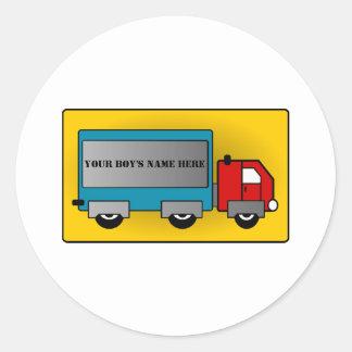 大きいトラック-貨物キャリアは、あなたの名前か文字を加えます ラウンドシール