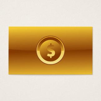 大きいドル記号の会計の金ゴールドの名刺 名刺