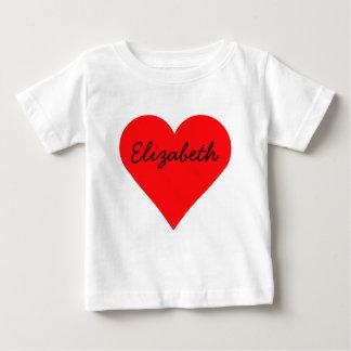 大きいハートのバレンタインデー ベビーTシャツ