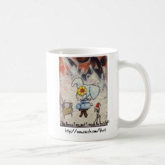 大きいバニーの耳および友人のマグ コーヒーマグカップ