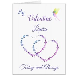 大きいバレンタインデーのデザインの挨拶 カード