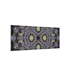 大きいパノラマ式の花火の曼荼羅 キャンバスプリント