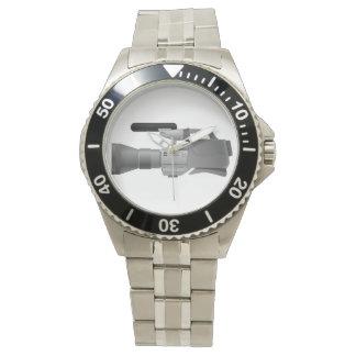 大きいビデオ・カメラの腕時計 腕時計