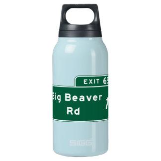 大きいビーバーの道、交通標識、ミシガン州、米国 断熱ウォーターボトル