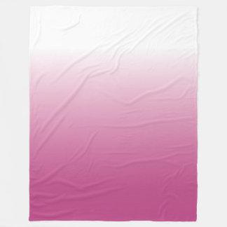 大きいピンクのグラデーションな毛布 フリースブランケット