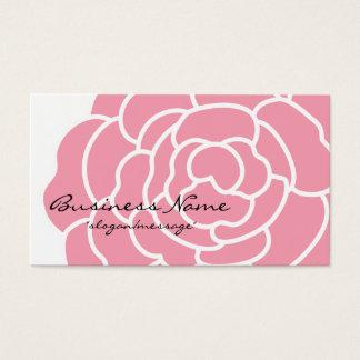 大きいピンクの花の名刺 名刺