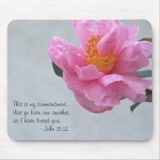 大きいピンクの花はまたは互いを愛します マウスパッド