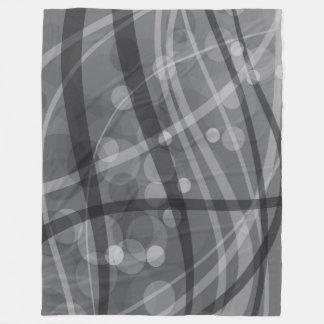 大きいフリースブランケット、モダン、灰色抽象芸術 フリースブランケット