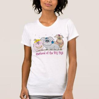 大きいブタのティーの姉妹関係 Tシャツ
