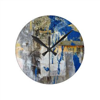 大きいブルーバード ラウンド壁時計