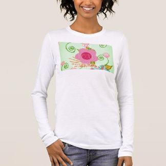 大きいプリンセスのデザイン 長袖Tシャツ