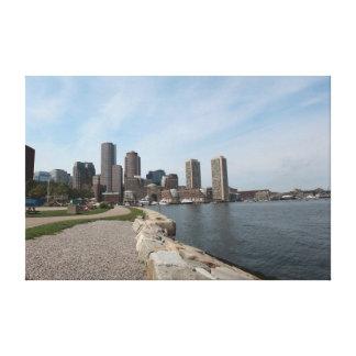 大きいボストン都市水辺地帯- キャンバスプリント