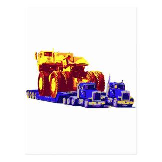 大きいポップアートのトラック ポストカード