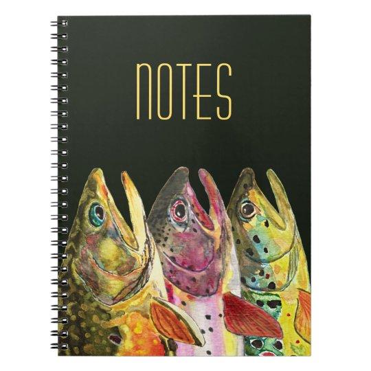 大きいマスのはえの漁師 ノートブック