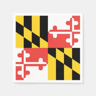 大きいメリーランドの旗のナプキン スタンダードカクテルナプキン