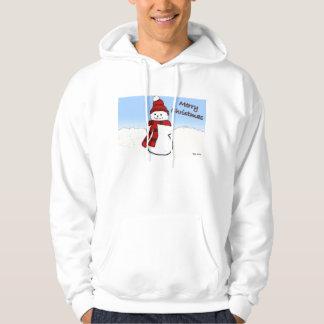 大きいメンズ雪だるまの漫画のフード付きスウェットシャツ パーカ