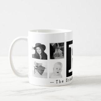 大きいモノグラム8のInstagramの写真のコラージュ コーヒーマグカップ