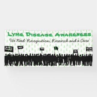 大きいライム病の認識度の抗議の印の旗 横断幕