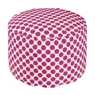 大きいレトロの点-ピンクおよびバーガンディを殻から取り出して下さい プーフ