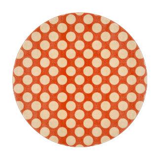 大きいレトロの点-淡い色のなオレンジおよびマンダリン カッティングボード