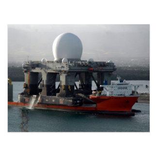 大きいレーダーの船 ポストカード