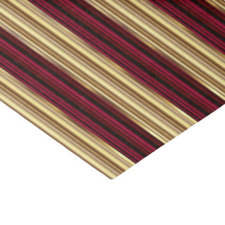 大きいワインレッドおよび金ゴールドは縞で飾ります 薄葉紙