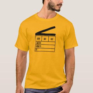 大きい下見板を持つディレクター基本的なオレンジT.Shirt Tシャツ