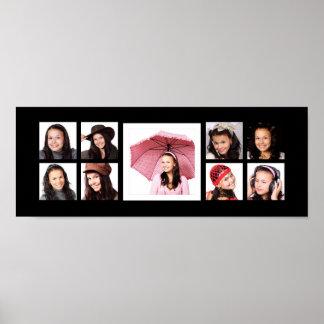 大きい中心のイメージのInstagramの9つの写真 ポスター