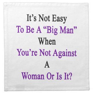 大きい人であることは容易時あなたはないAgaiではないです ナプキンクロス