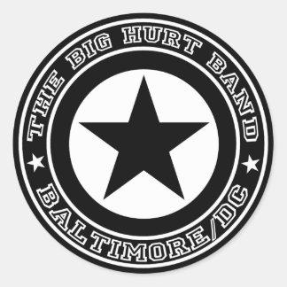 大きい傷の円形の星のステッカー 丸形シールステッカー