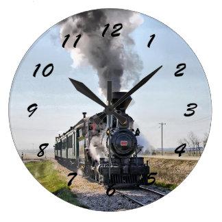 大きい円形のロコモーティブの時計 ラージ壁時計