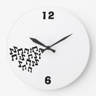 大きい円形の時計音楽ノート ラージ壁時計