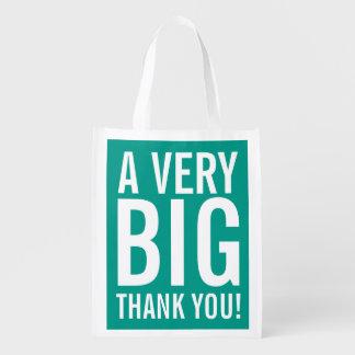 大きい再使用可能なパーティの記念品の買い物袋ありがとう エコバッグ