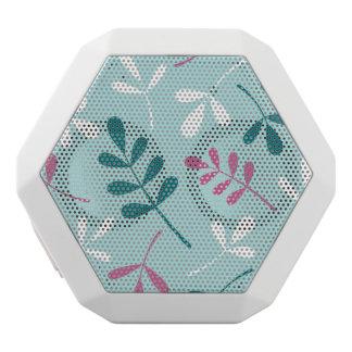 大きい分類された葉のティール(緑がかった色)の白いピンク ホワイトBluetoothスピーカー