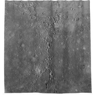 大きい噴火口の表面の月の惑星 シャワーカーテン