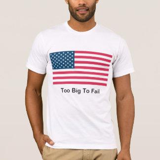 大きい失敗する米国の旗-余りに Tシャツ
