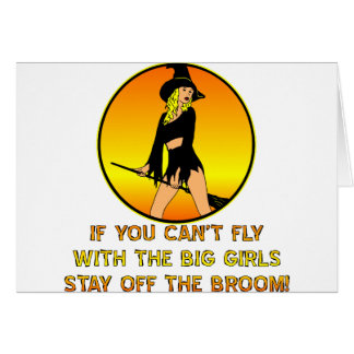 大きい女の子と飛ぶことができなかったらとどまって下さい カード