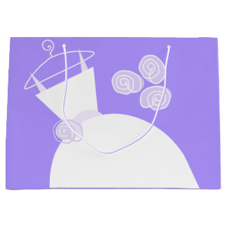 大きい婚礼衣裳の紫色のギフトバッグ ラージペーパーバッグ