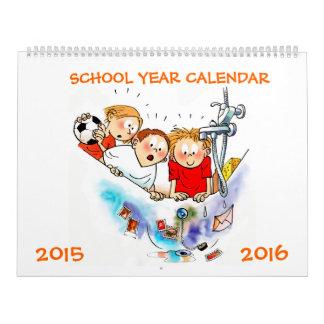 大きい学年のカレンダー2015年-子供へ2016年 カレンダー