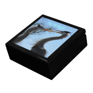 大きい宝石箱を招いている素晴らしい青鷲 ギフトボックス